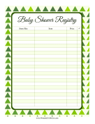 Baby Shower Registry