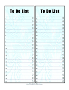 Pretty Numbered Checklist
