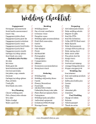 Wedding Master Checklist