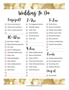 Wedding To Do Timeline