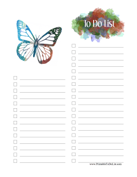 Butterfly To Do List