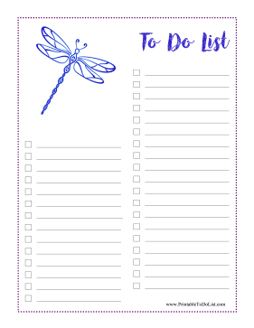 Dragonfly To Do List