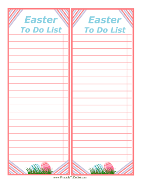 Easter To Do List