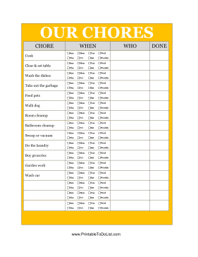 Our Chores